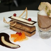 Plated chocolate desert